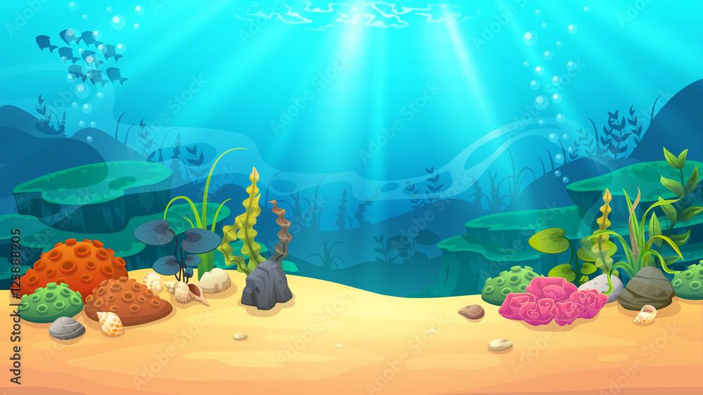Fototapeta Underwater world