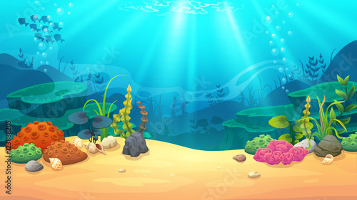 Poster Turquoise Underwater world