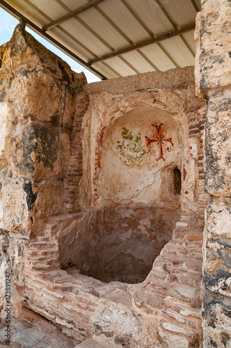 Photo  baptistery in archaeological excavation Bet Shean in israel