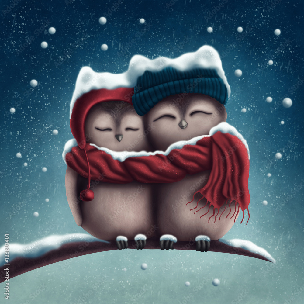 Little snow owls
