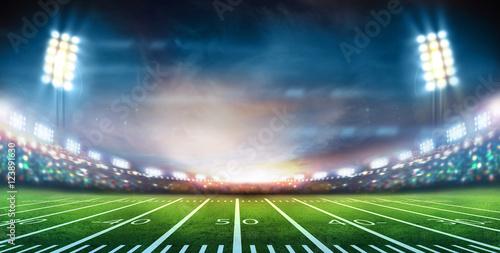 Fotografia, Obraz  lights at night and stadium