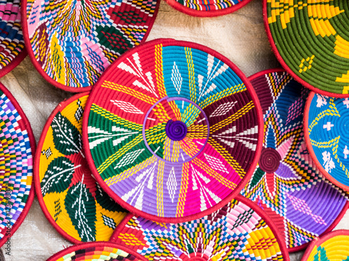 Foto auf AluDibond Afrika Ethiopian handmade Habesha baskets sold in Axum, Ethiopia.