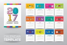 2017 Calendar Template With Mo...