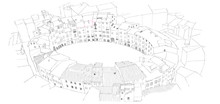 Urban Sketch Of Oval City Square In Lucca, Italy