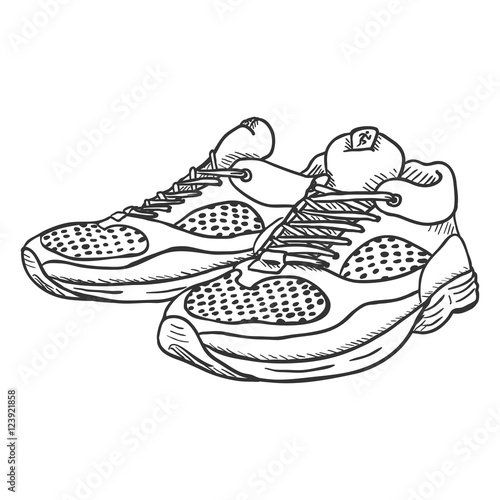 This Vector Shoes Stock Pair Illustration Buy Of Sketch Running Yb76gfvIym