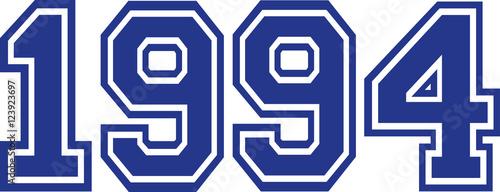 Fotografia  1994 Year college font