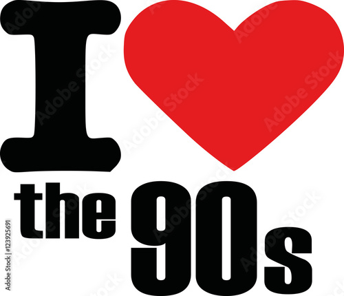 Valokuva  I love the 90s