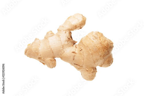 Fotografie, Obraz  Ginger root on white background
