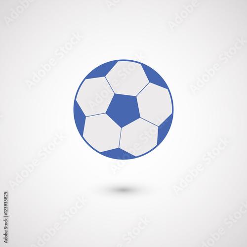 Ikona piłki nożnej / piłki nożnej. Na białym tle na białym tle. Ilustracji wektorowych, EPS 10.