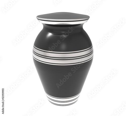 Foto Cremation urn, 3d rendering