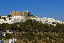 Patmos Island Castle Monstery Of Evangelist Ioannis Grreece