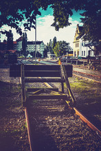 Railroad Bumper Post Surrounde...