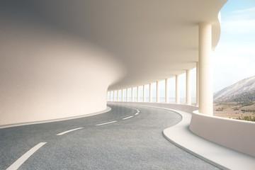 Cestovni tunel s pogledom na krajolik