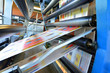 canvas print picture - Druckmaschine Rollenoffset in einer Zeitungsdruckerei // printing machine roll offset in a newspaper printing company