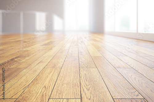 Fotografie, Obraz  Light wooden floor closeup