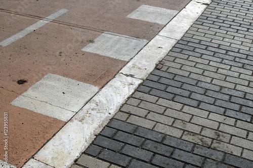Fotografie, Obraz  Sfondo astratto, strada mista