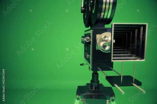 Photo  Retro movie projector