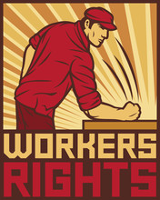 Workers Rights Poster - Fist H...