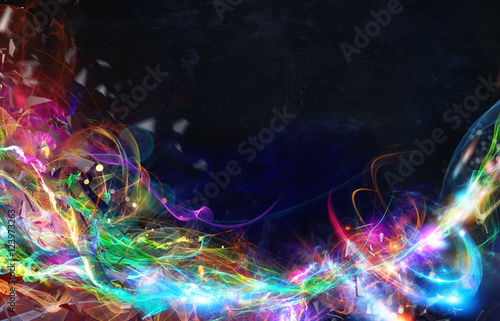 Modern abstract motion banner on dark background