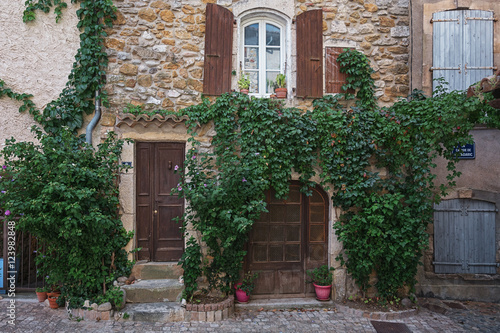 The Facade Of An Old House In The French Village Vallon Pont