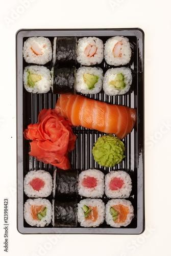 Recess Fitting Sushi bar Japanese sushi rolls.