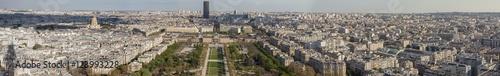 Foto op Aluminium Aerial view from Eiffel Tower on Champ de Mars - Paris.