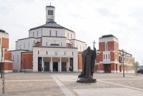 Fototapeta sanctuary church Saint Pope John Paul II in Krakow obraz