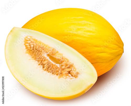 Set of yellow melon isolated on white background Fototapeta