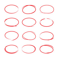 Red Circle Markers