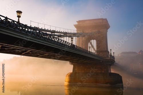 Aluminium Prints Budapest Budapest chain bridge