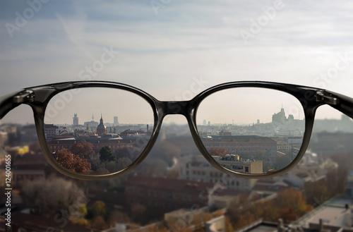 Fotografía  Clear vision through glasses