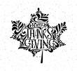 Happy thanksgiving icon, logo or badge