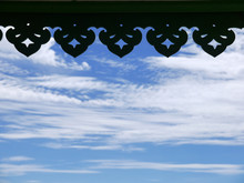 Silhouette Of Thai Roof Edge I...