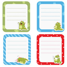 Set Of Cute Creative Cards Wit...