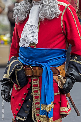 Background of a medieval soldiers clothes
