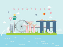 Singapore Landmarks Travel And...