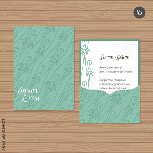 Wedding Invitation Or Greeting Card With Floral Ornament