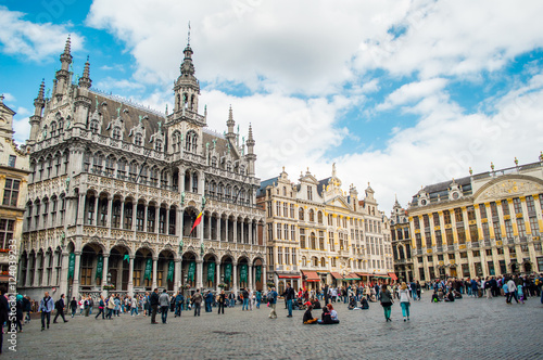 Stickers pour porte Bruxelles Grand Place in Brussels, Belgium