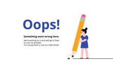 Oops Broken Pencil Page