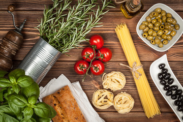 FototapetaItalian food ingredients