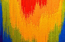 Close Up Of Colorful Abstract Yarn Design