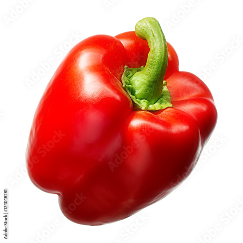 Sweet red pepper isolated on white background. With clipping path. Fototapete