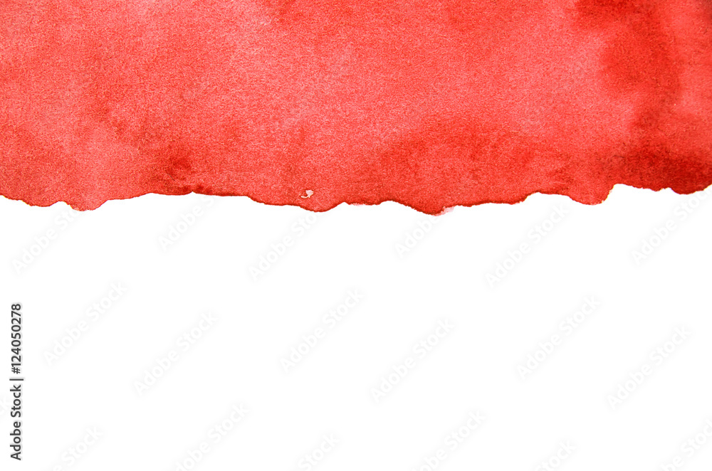 Fototapety, obrazy: abstract red watercolor on white background
