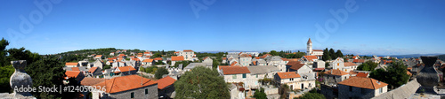 Papel de parede Panoramic view of town Grohote on the Solta island, Croatia.