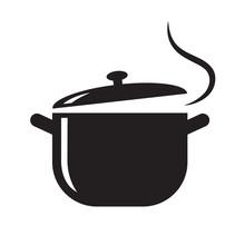 Black Pot Icon, Vector