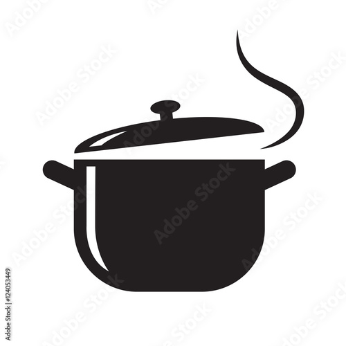 Carta da parati black pot icon, vector