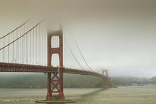Golden Gate Bridge In The Mist; San Francisco, California, United States Of America