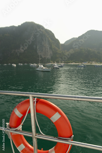 lifesaver on boat phuket thailand buy this stock photo and