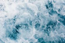 White Foam On A Sea Water Surf...