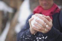 Making A Snowball; Chamonix, France
